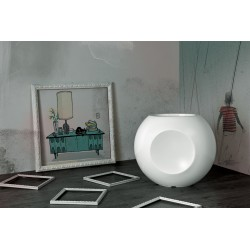 Vaso laccato di forma sferica Alboran