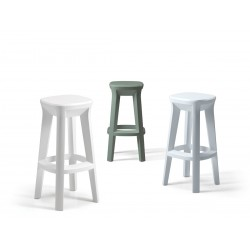 Sgabello Frozen Square Stool Plust Collection