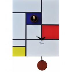 Orologio a Cucù Around Mondrian by Pirondini Italia