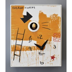 Orologio a Cucù D'Apres Basquiat by Pirondini Italia