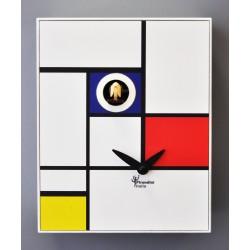 Orologio a Cucù D'Apres Mondrian by Pirondini Italia