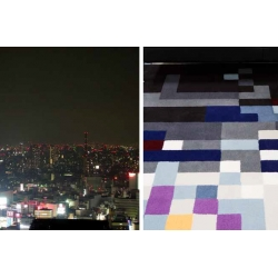 "JAPAN COLLECTION "" TOKYO IN THE NIGHT"" Kebir/14 quadrato"