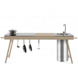 Cucina freestanding con cassetto e piano cottura a induzione by STIP