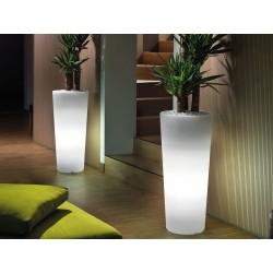 Portavaso luminoso Cache-pot Genesis totondo by Lyxo Design