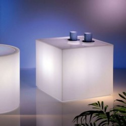 Tavolino Home Fitting cubo luminoso by Lyxo Design
