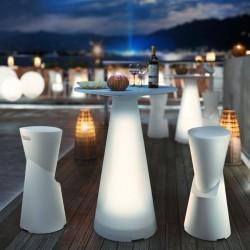 Tavolo TIFFANY alto con luce by Lyxo Design