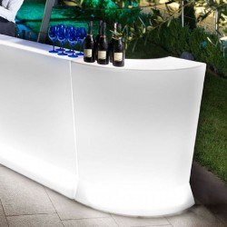 Bancone Bar illuminato Marvy (corner) by Lyxo Design