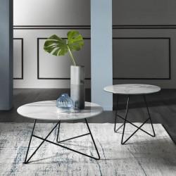 Tavolino Ermione vetro-marmo by MEMEDESIGN