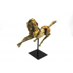 Scultura Cavallo con base in metallo by Royal Family Sheffield