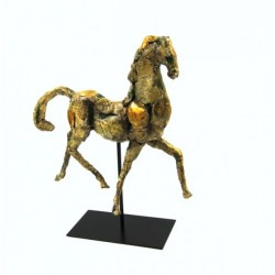 Scultura Cavallo grande con base in metallo by Royal Family Sheffield