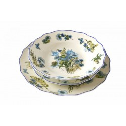 Servizio 18 Piatti Blue Flower by Royal Family Sheffield
