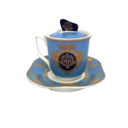 Tazzina Caffè con piattino e coperchio in scatola regalo by Royal Family Sheffield
