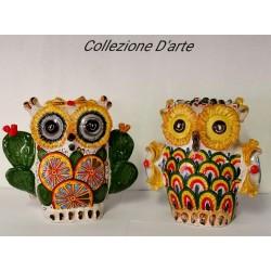 Gufo in ceramica by Ceramica D'arte di Caltagirone