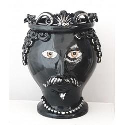 Vaso Testa Uomo by Ceramica D'arte di Caltagirone