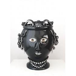 Vaso Testa Donna by Ceramica D'arte di Caltagirone