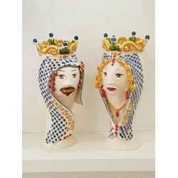 Coppia Teste collo lungo by Ceramica D'arte di Caltagirone